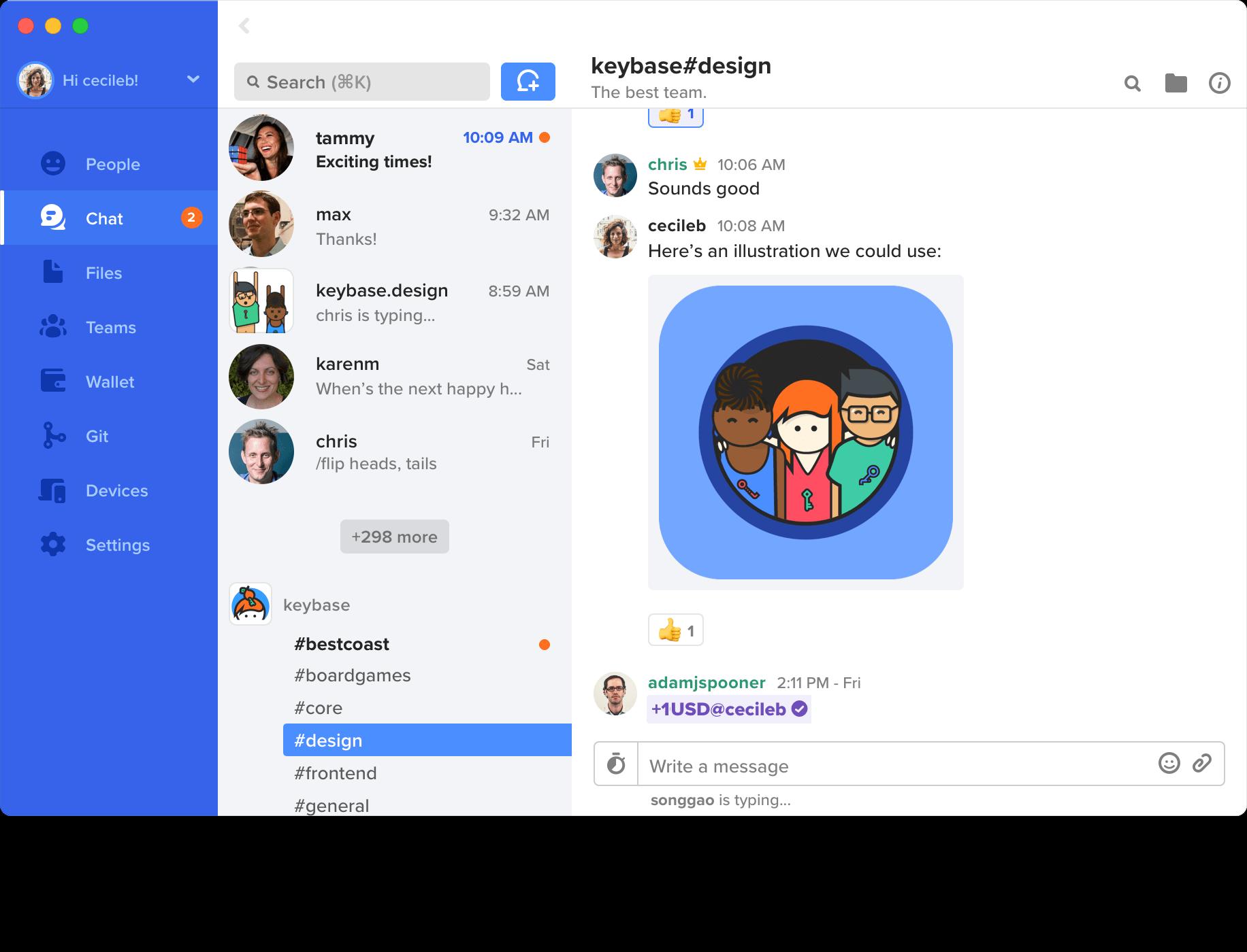 Keybase - Similar to Whatsapp