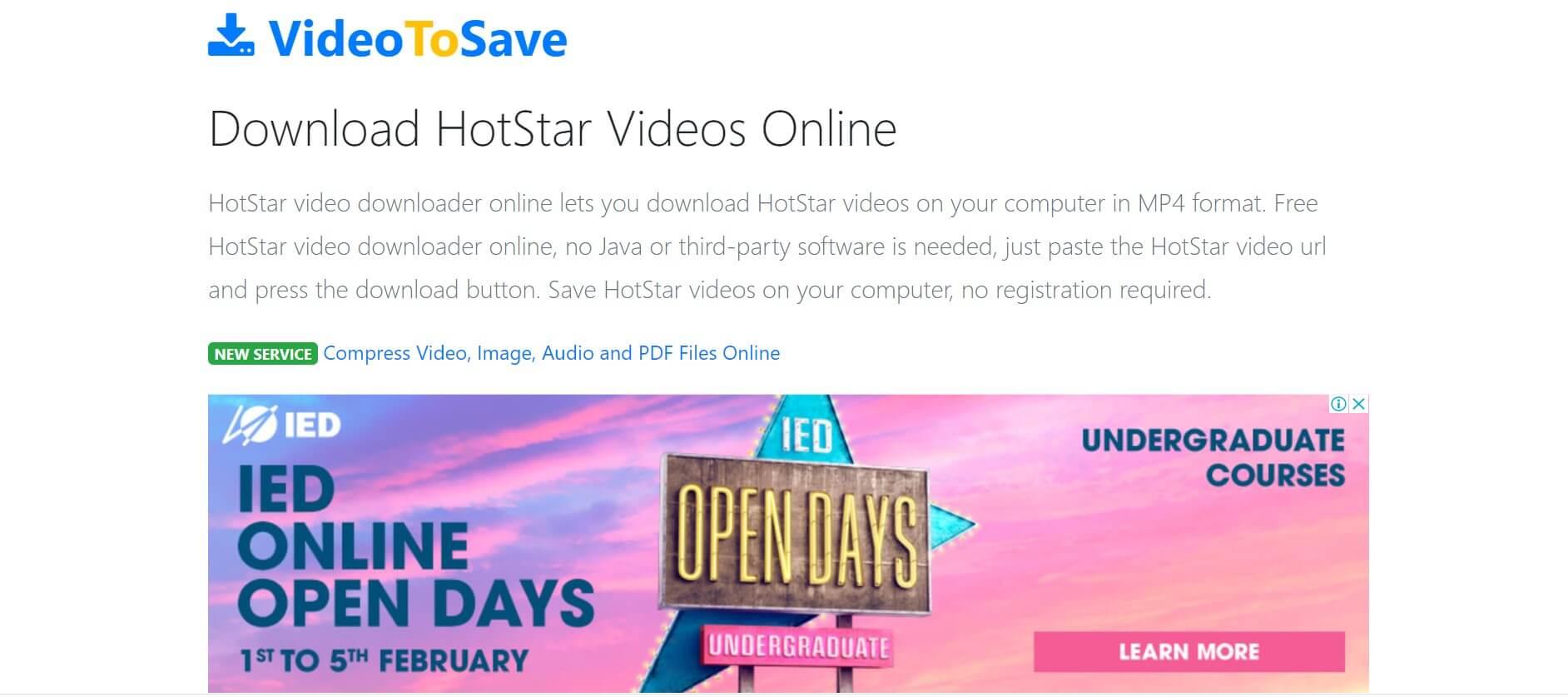 Videotosave-Hotstar Downloader