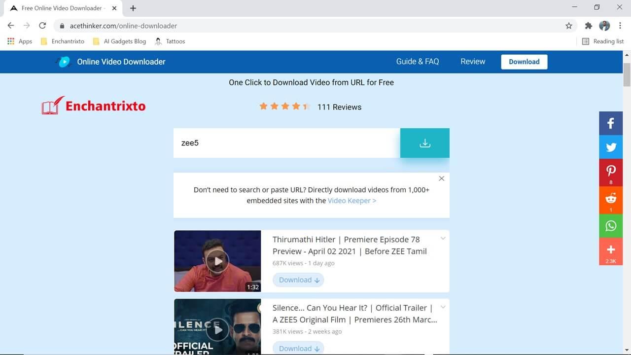 Acethinker Zee5 Video Downloader