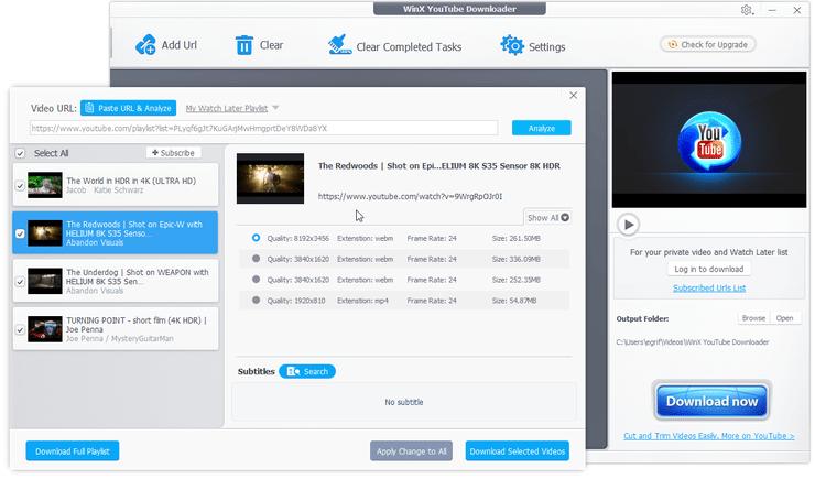 Winx video downloader